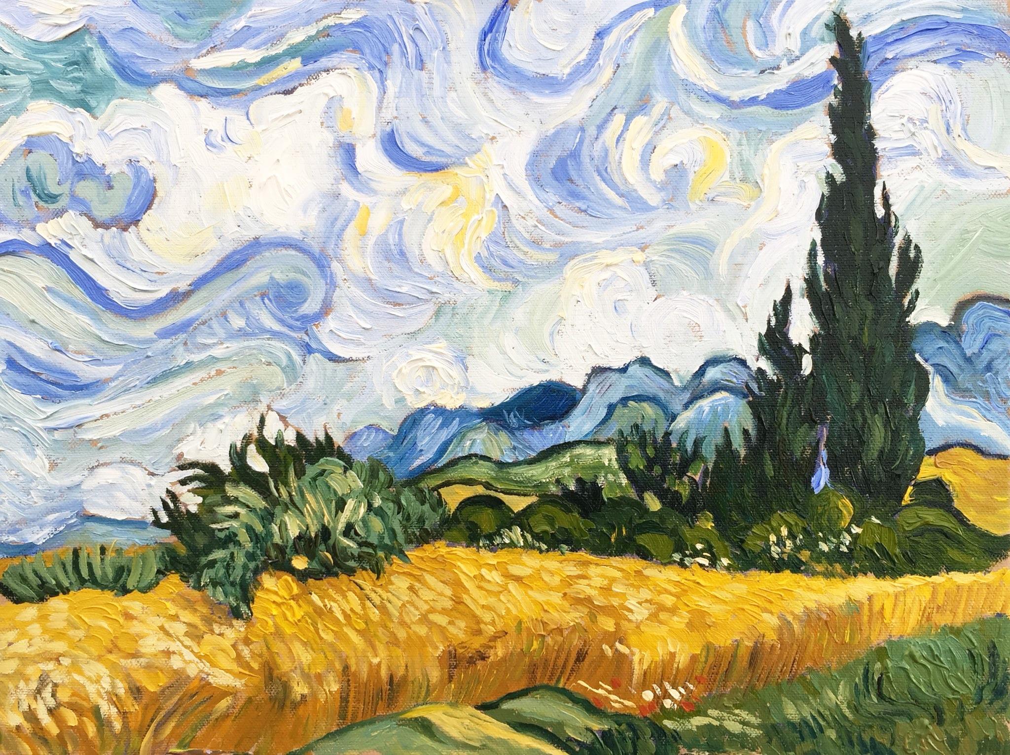 Paint like Van Gogh ~ with Sarah Wimperis