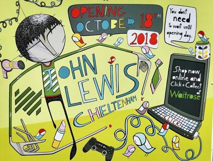John Lewis commission Imogen Harvey-Lewis for new store hoardings