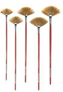Beautiful fan brushes made by Da Vinci.