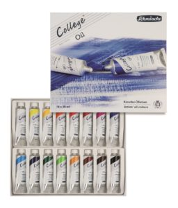Schmincke College Oil Paint Set 16 x 35ml. Perfect gifts for artists.