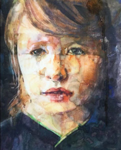 Space Pariah - a watercolour portrait by artist Catherine MacDiarmid