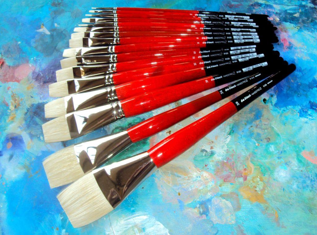 5123-30 Bright Medium-Length with Red Handle da Vinci Hog Bristle Series 5123 Maestro 2 Artist Paint Brush Size 30