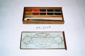 An original shilling box of watercolour paints.