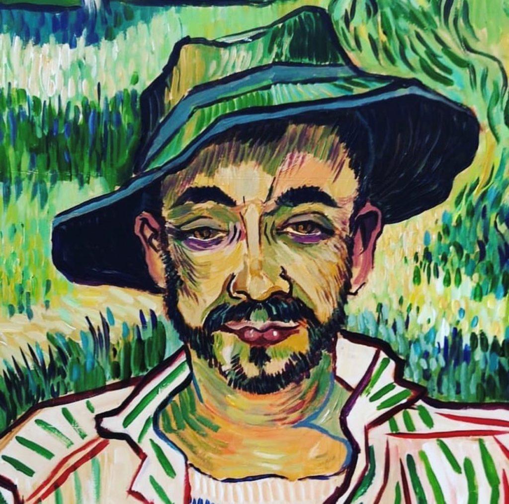 Sarah Wimperis - another Van Gogh inspired portrait