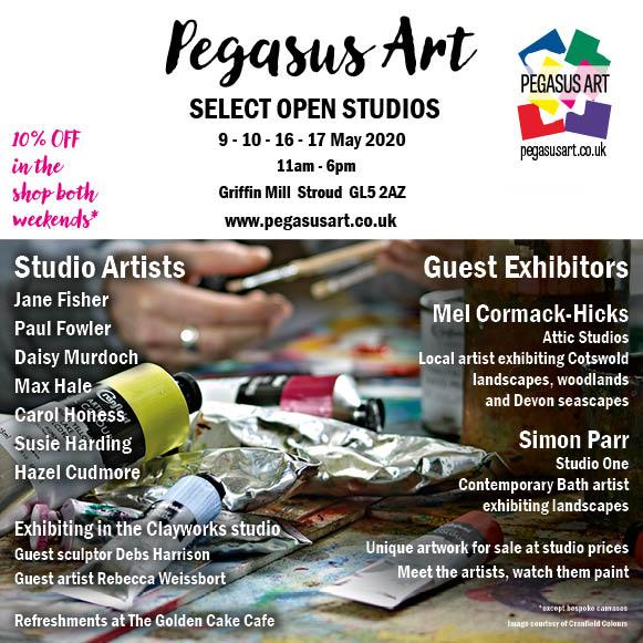 Select Trail artist Open Studios at Pegasus Art 2020