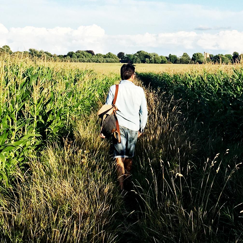 Simon Parr in the landscape