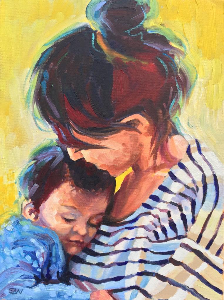 Artist Life: Sarah Wimperis paints her family