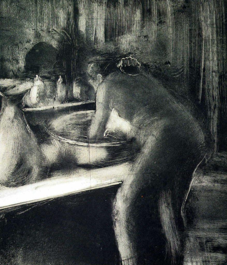 Monoprint by Edgar Degas