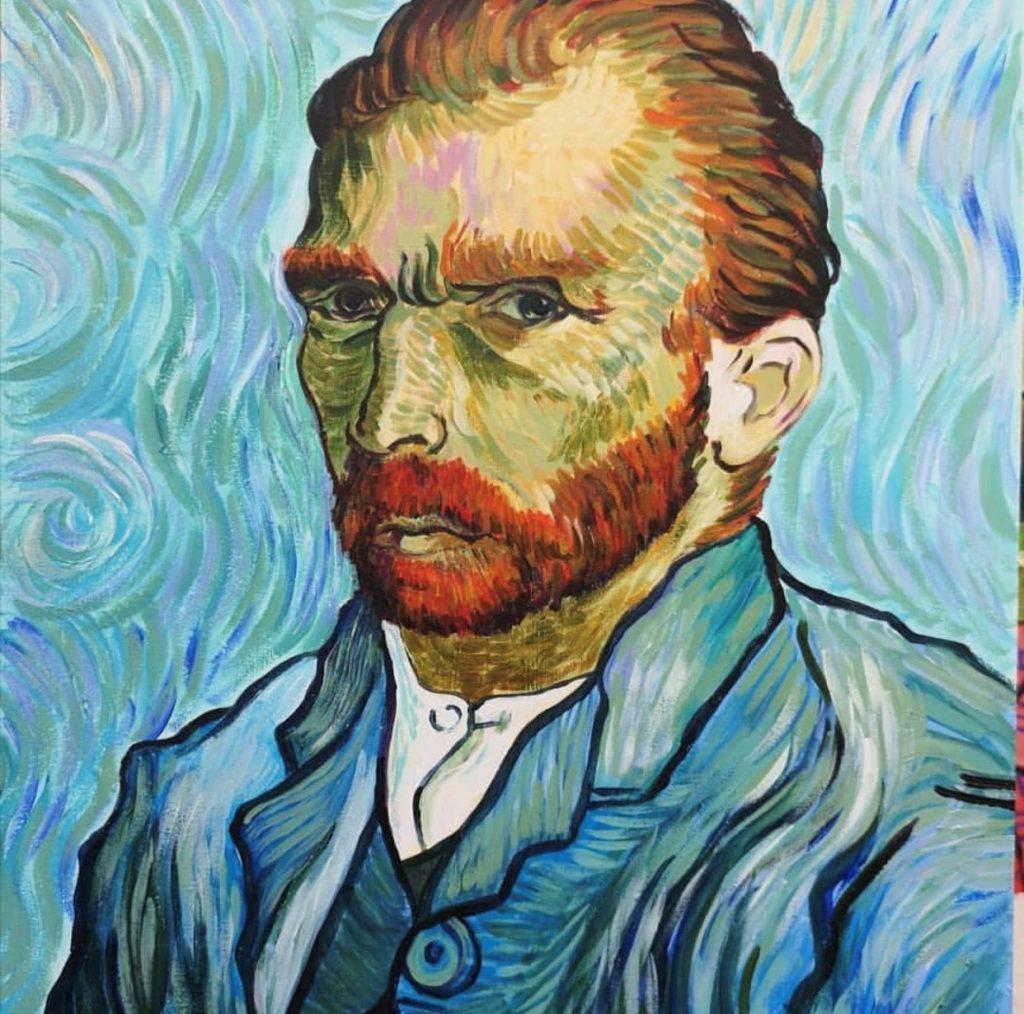 Sarah Wimperis version of a Van Gogh self portrait