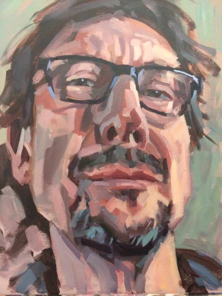 Self portrait by Mark Fennell