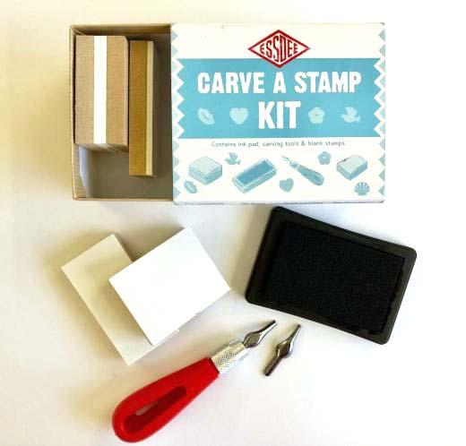 Carve a Stamp Kit at Pegasus Art.
