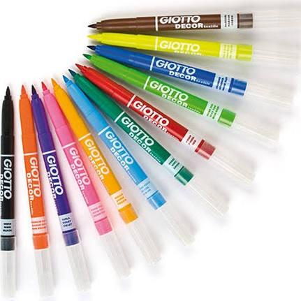 Giotto Textile fabric marker pens at Pegasus Art.