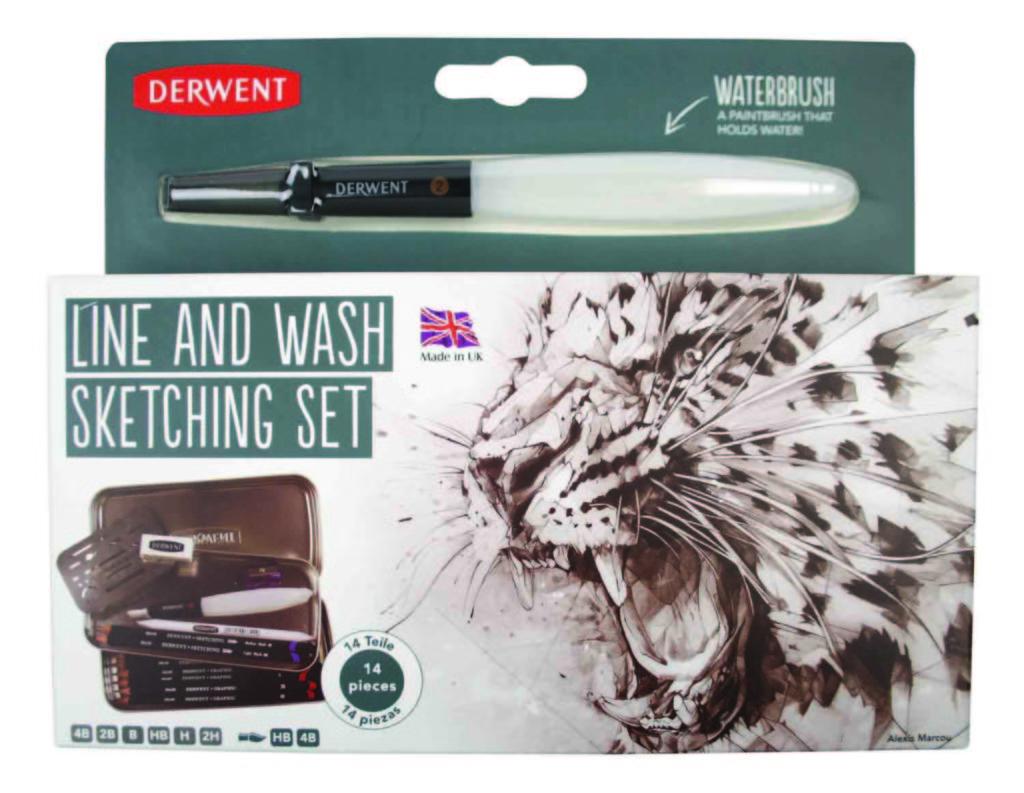 Derwent Line and Wash Sketching Set by Pegasus Art