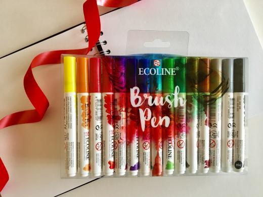 Ecoline brush pen set at Pegasus Art.