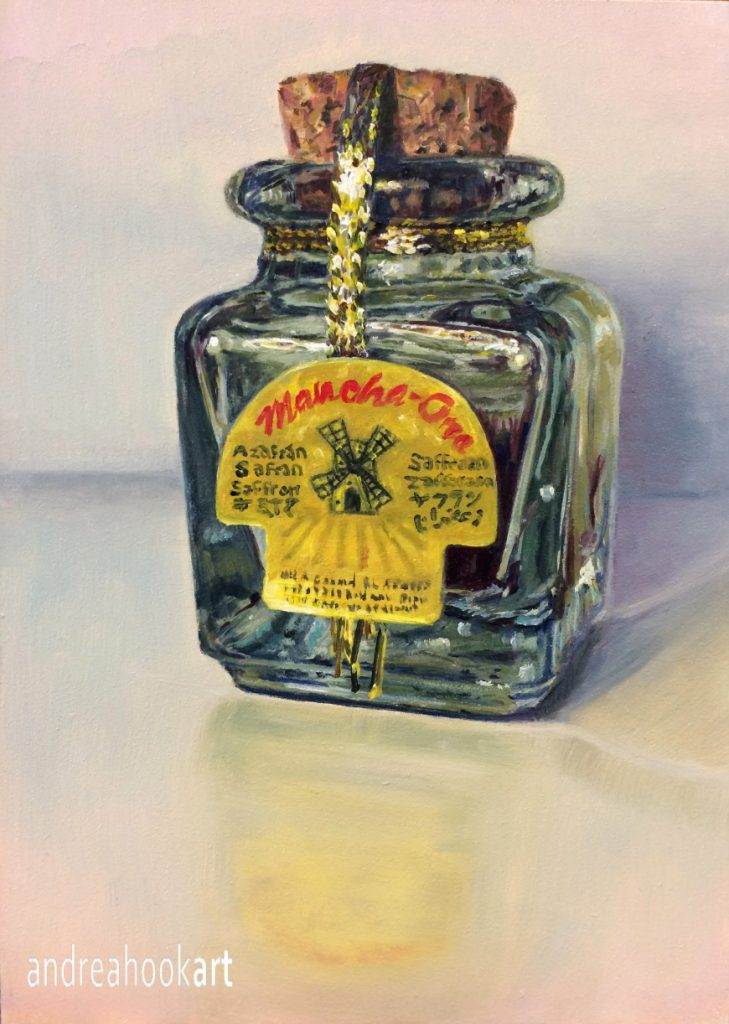 A jar of saffron by Andrea Hook Art