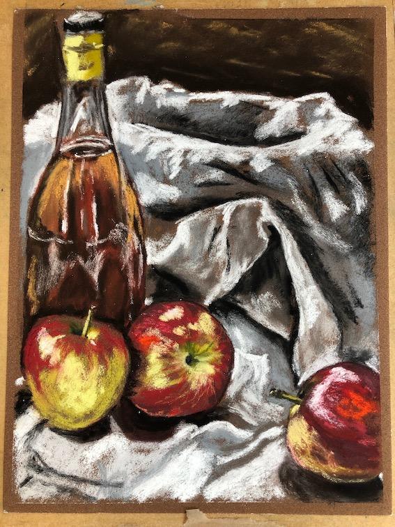 Cezanne pastel by Harriet Merry