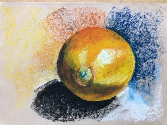 Orange by Harriet Merry winner of Artist of the Month at Pegasus Art
