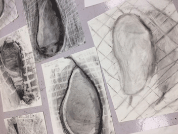 Alison Vickery Pears drawing