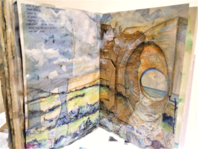 Mel Cormack-Hicks sketchbook example with texture