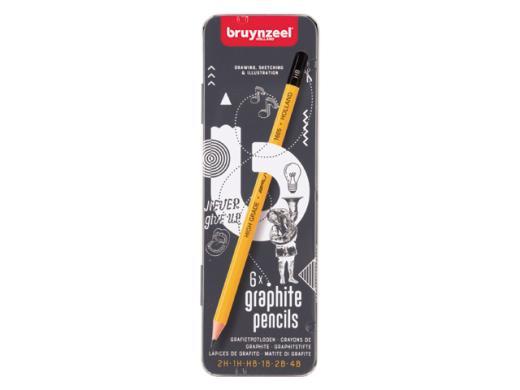 Daler Rowney A5 Ebony Artist/'s Sketch Book 12 x Bruynzeel Graphite Pencils