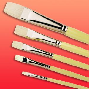 Pro Arte Brush Series A Hog Short Flat Size 1