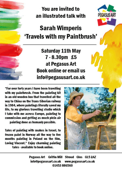 sarah wimperis - travels with my paintbrush flyer