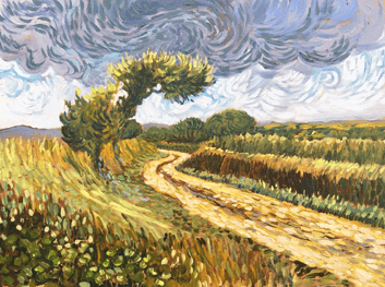 Sarah Wimperis - Van Gogh Inspired Landscape Painting 2